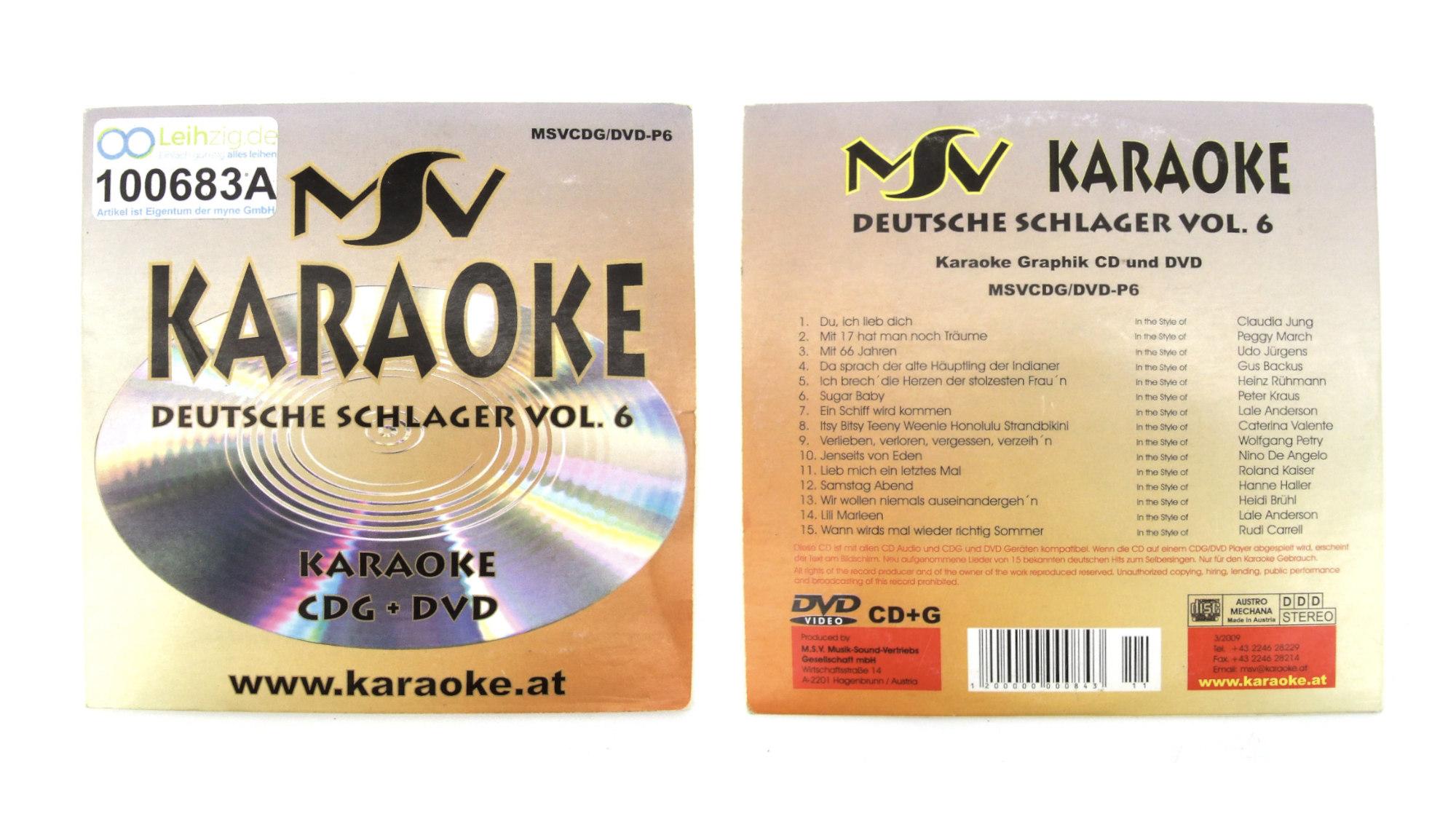 Karaoke CD Schlager Vol. 6 leihen