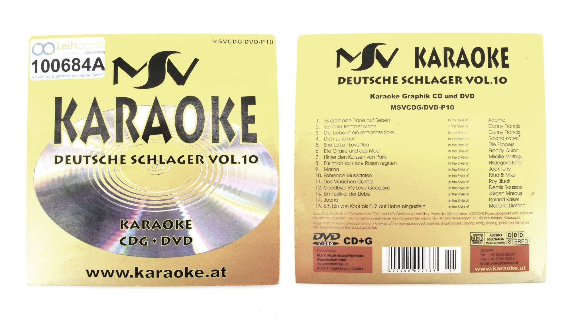 Karaoke CD Schlager Vol. 10 leihen