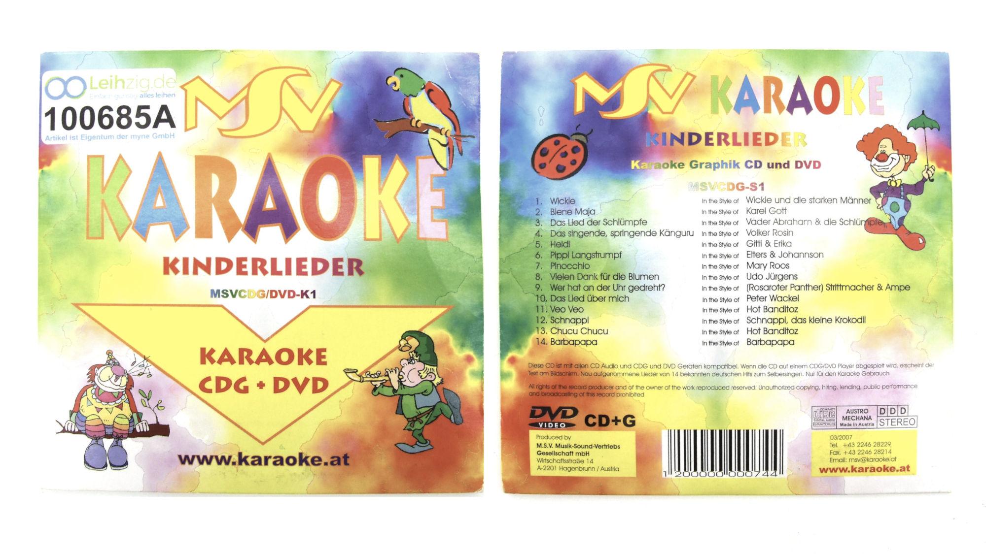 Karaoke CD Kinderlieder leihen