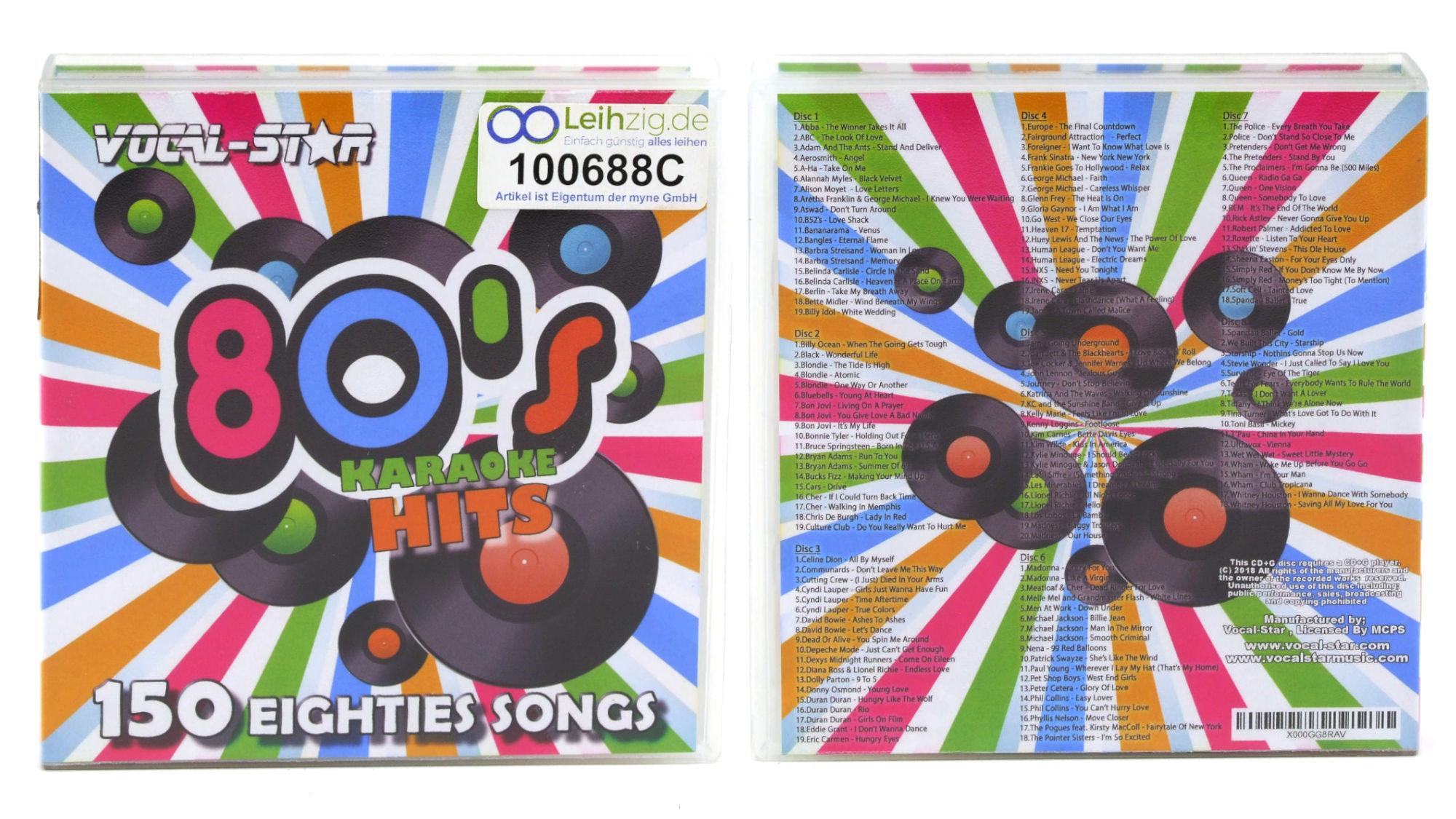 Karaoke CDs 80er 8x CD leihen
