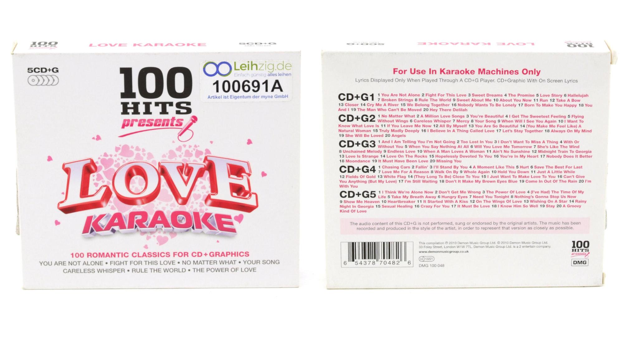 Karaoke CDs Love Hits leihen