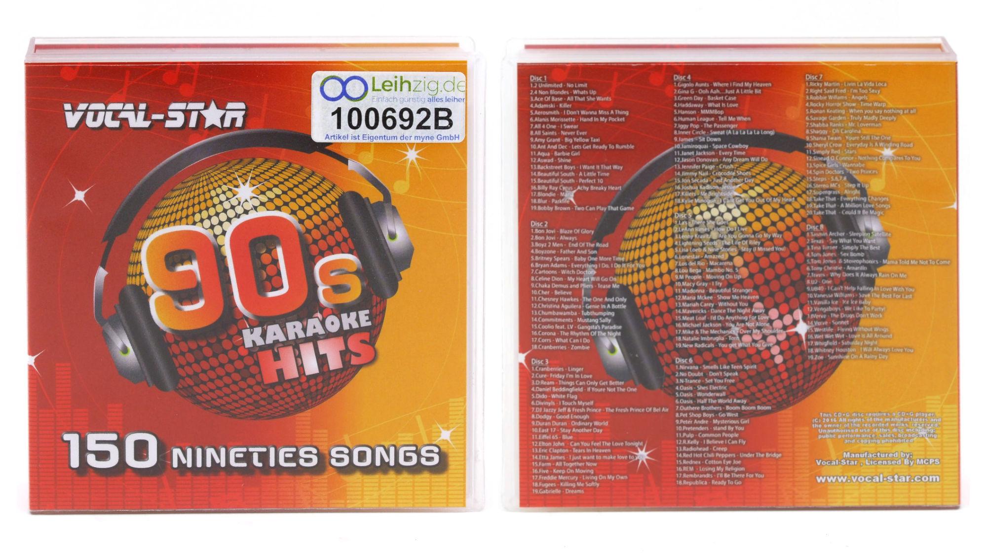 Karaoke CDs 90er leihen