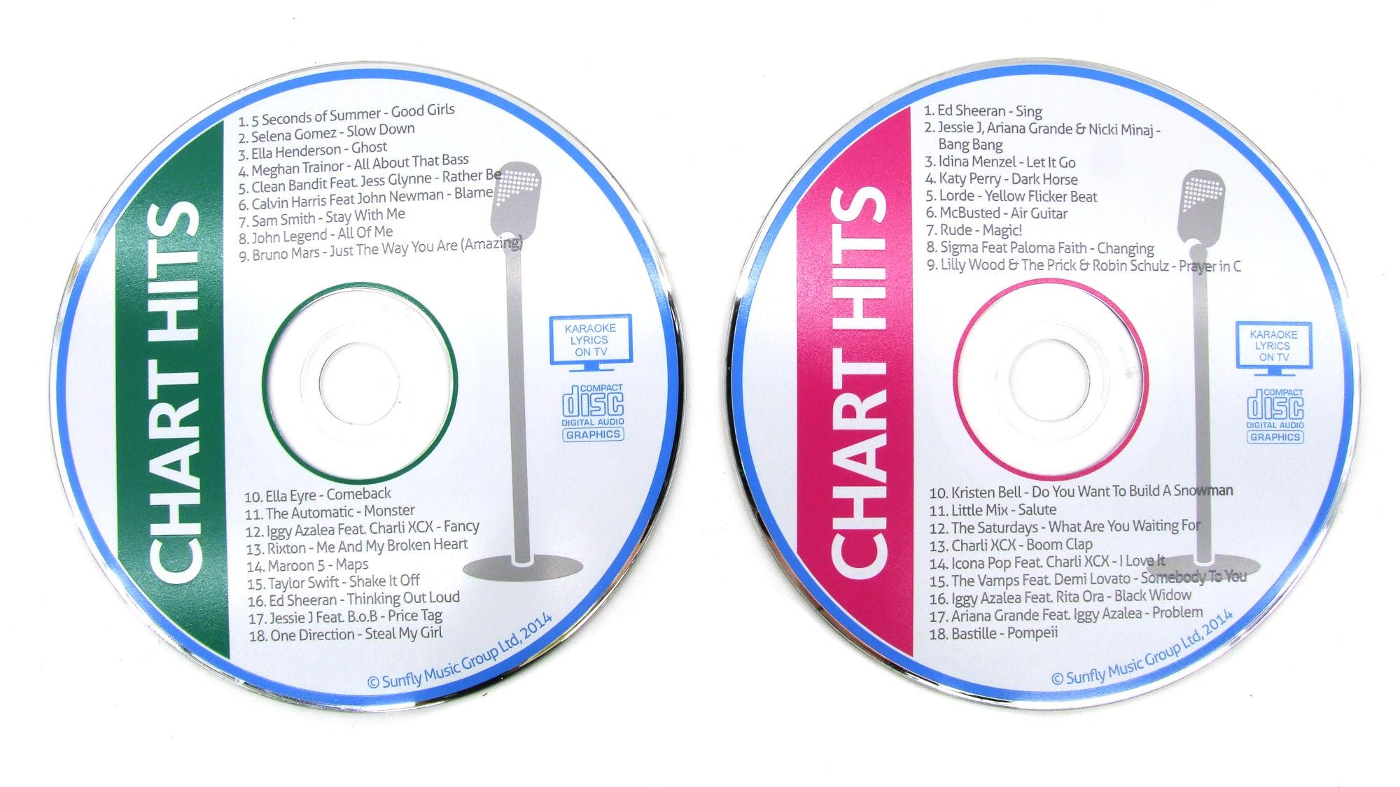 Karaoke CDs Chart Hits leihen