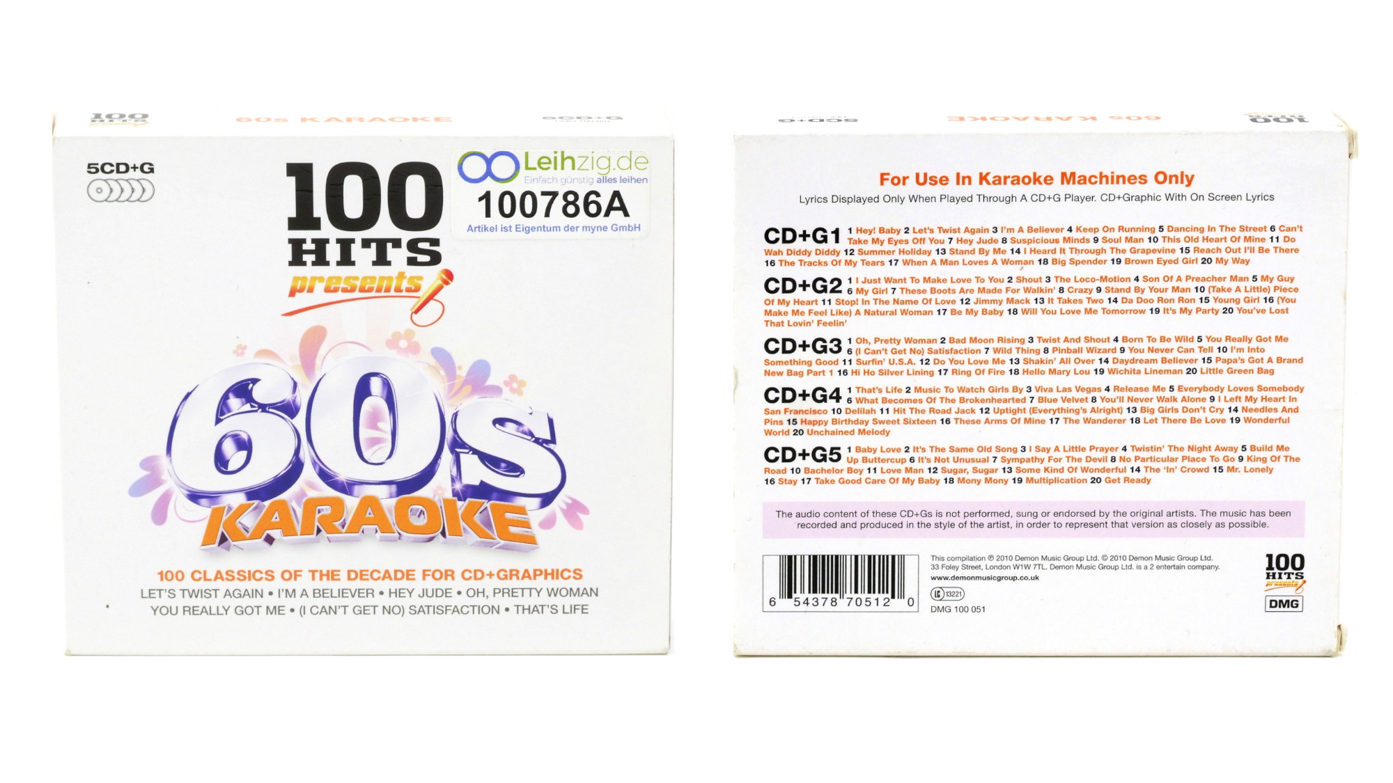 Karaoke CDs 60er leihen