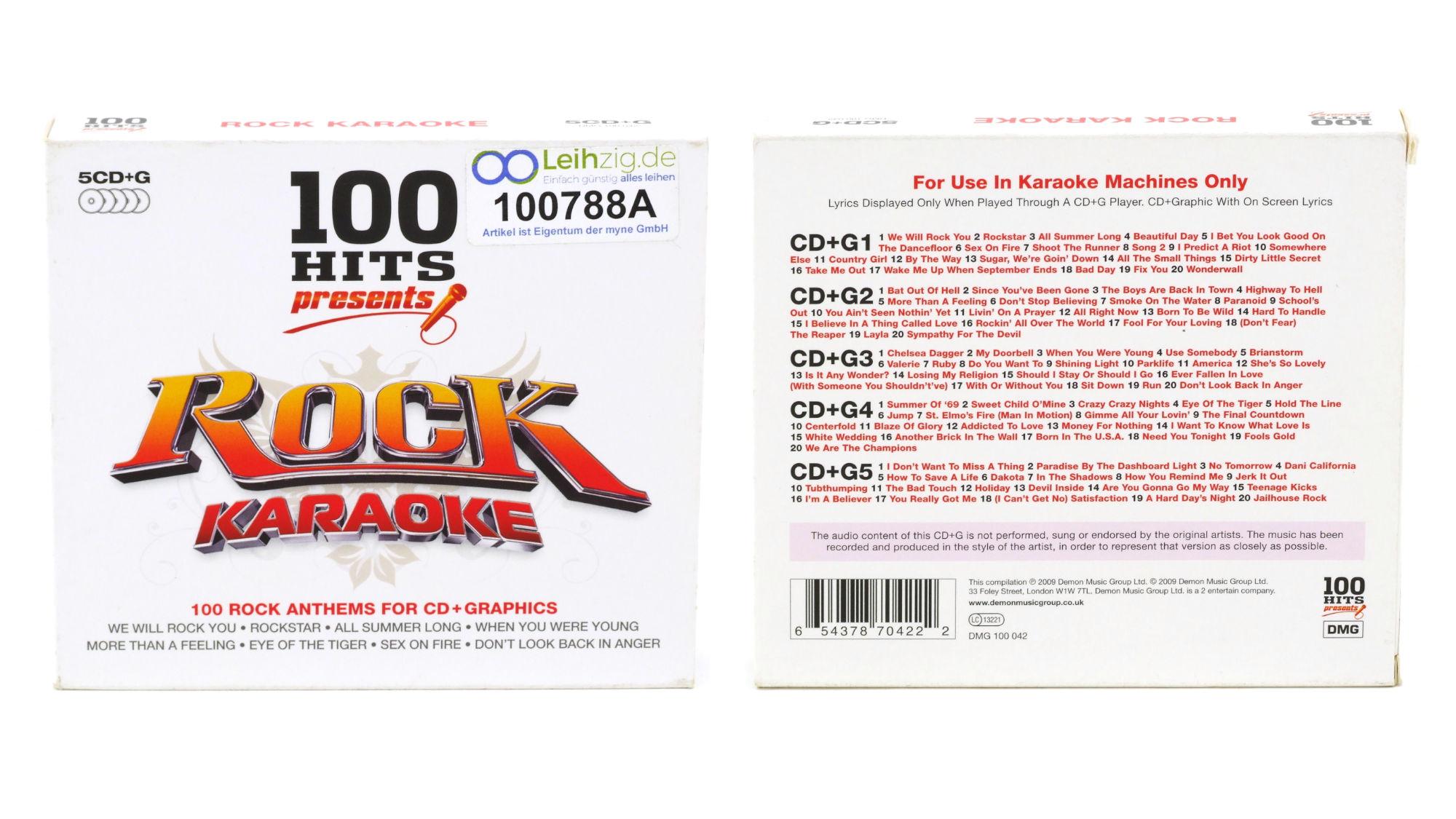 Karaoke CDs Rock leihen