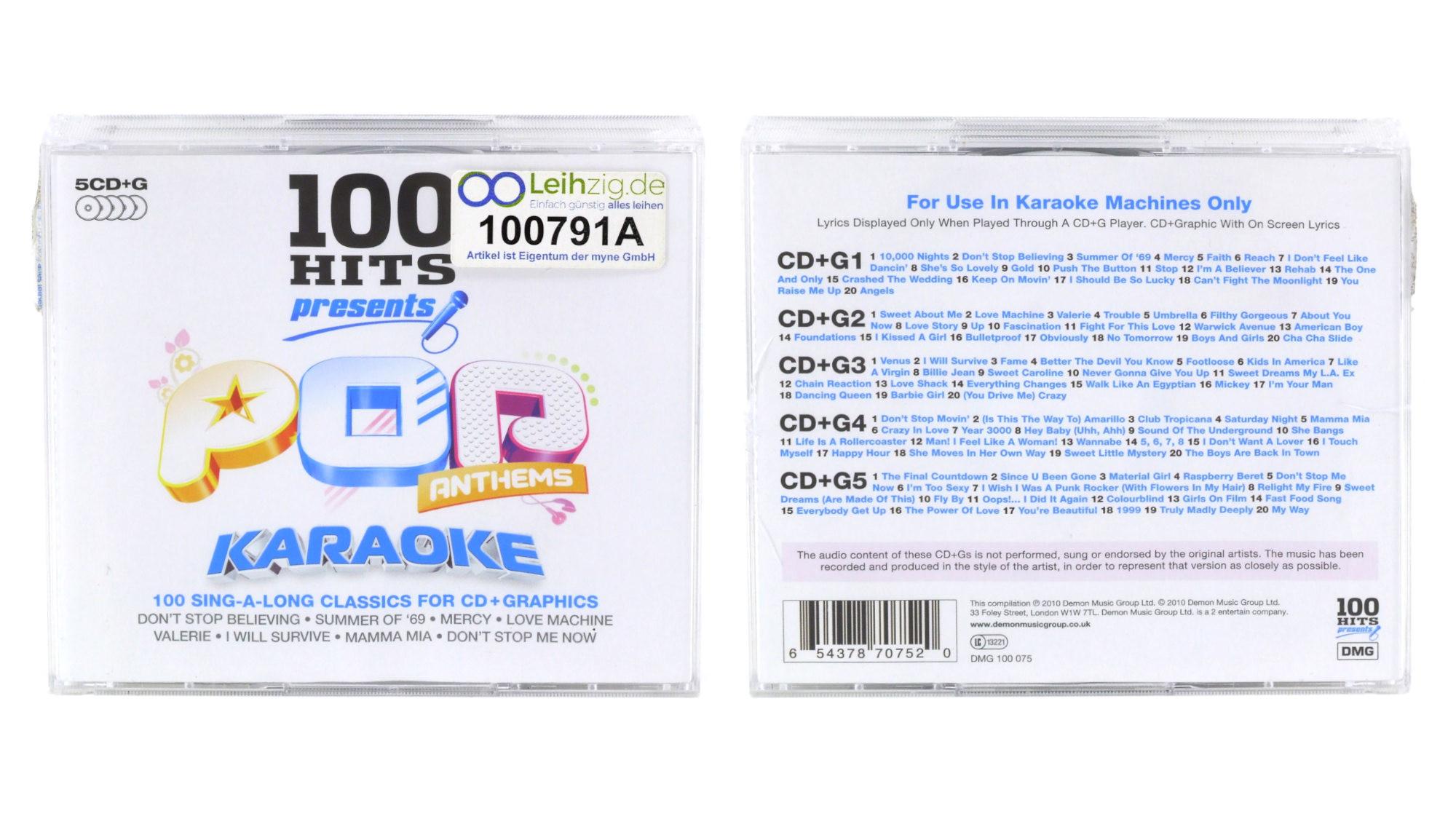Karaoke CDs Pop Anthems leihen