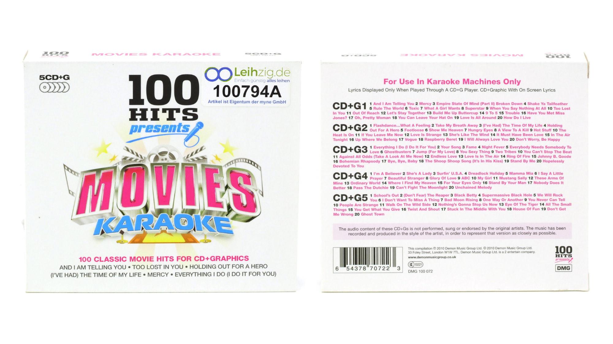 Karaoke CDs Movies leihen