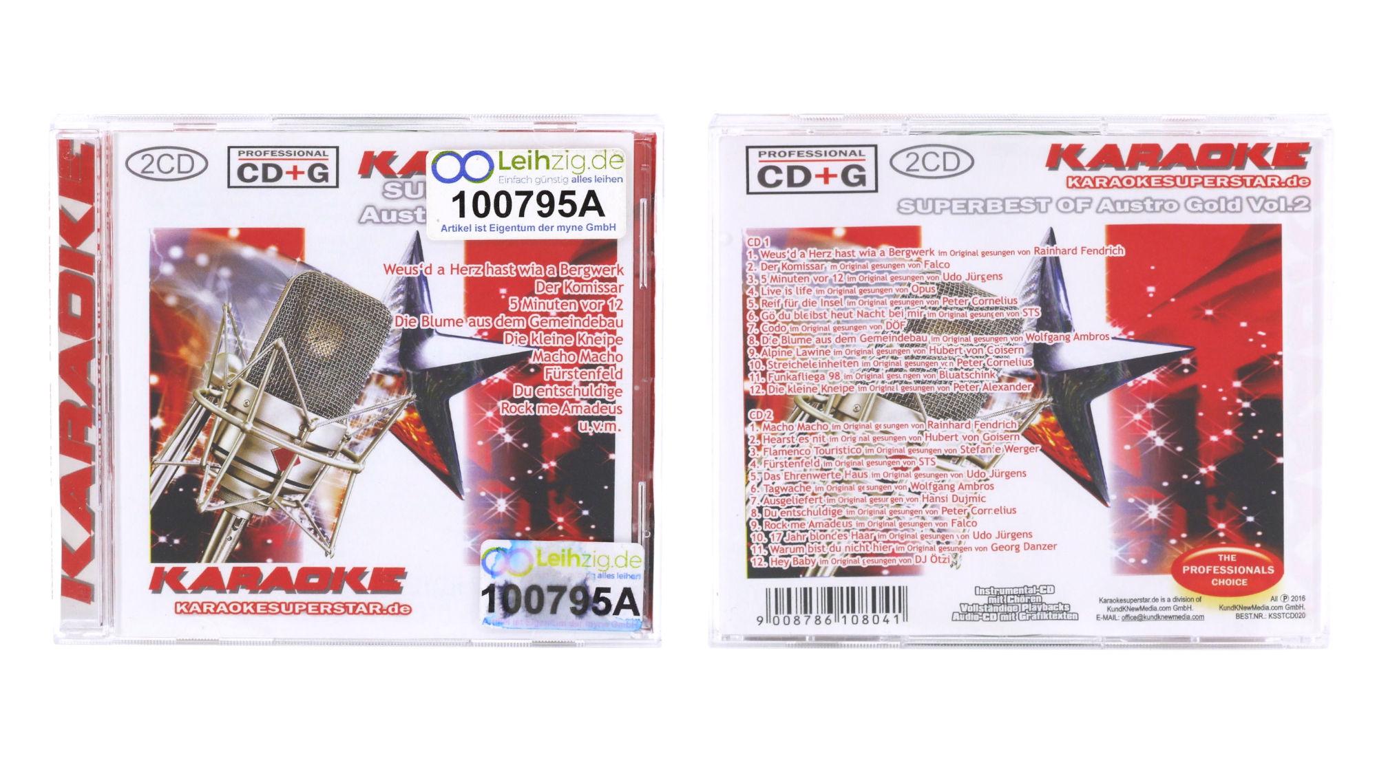 Karaoke CDs Austro Gold leihen