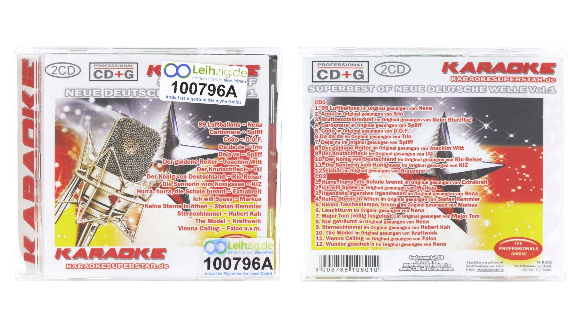 Karaoke CD Neue Deutsche Welle leihen