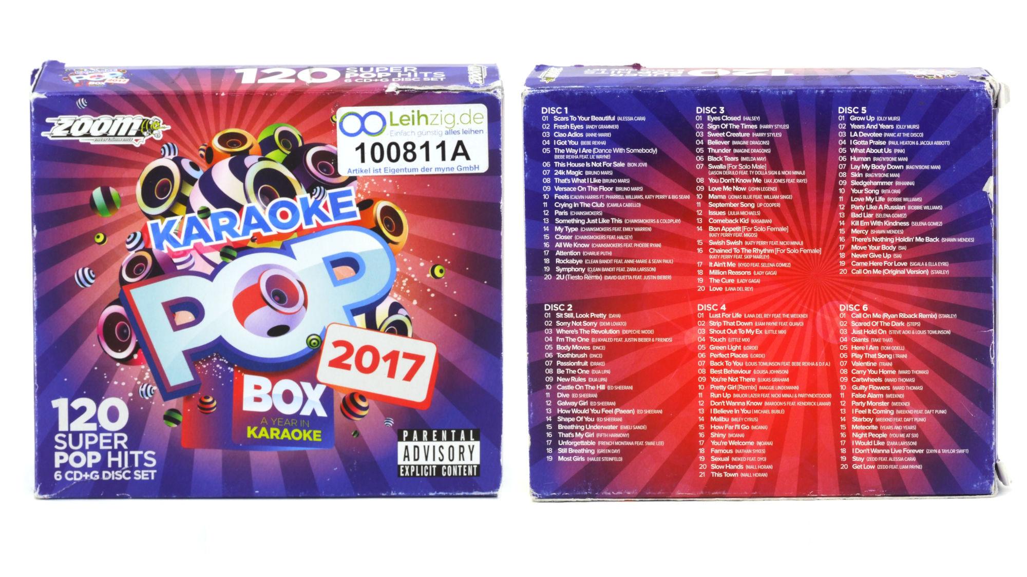 Karaoke CDs Pop Box 2017 leihen