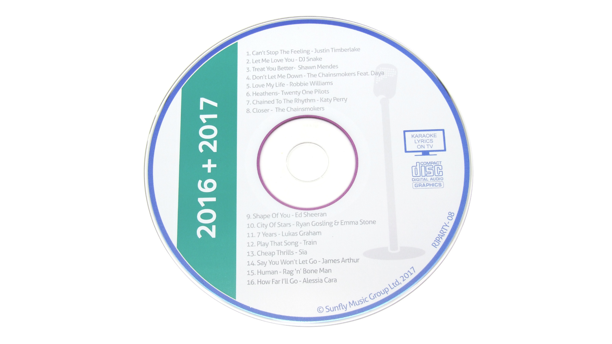 Karaoke CDs Chart Hits 2016 + 2017 leihen