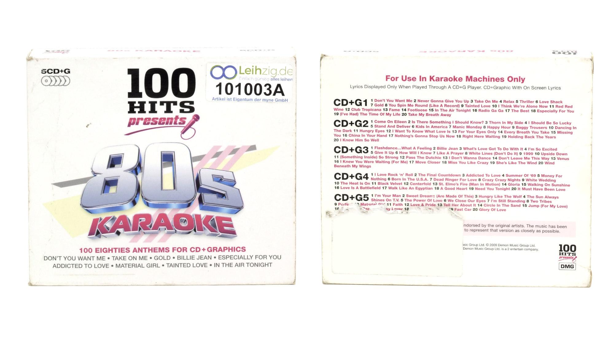 Karaoke CDs 80er 5x CD leihen