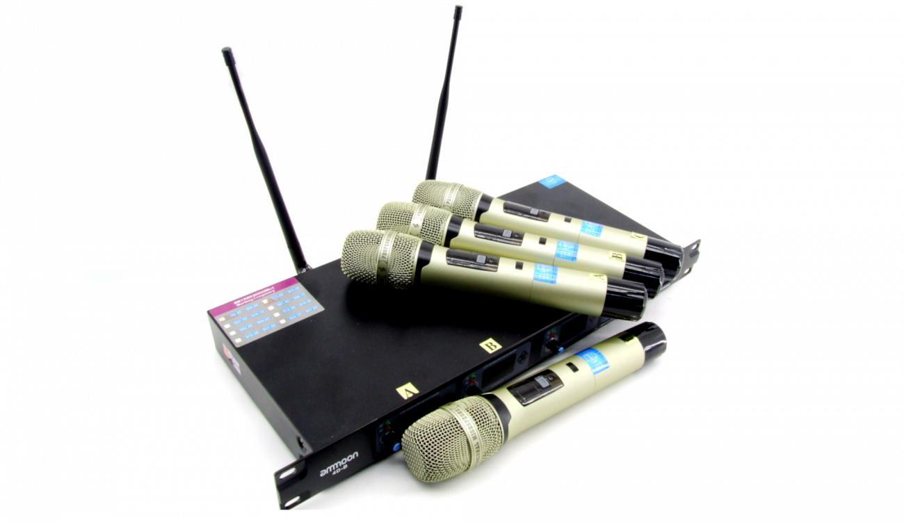 4x XLR Funkmikrofonset  leihen