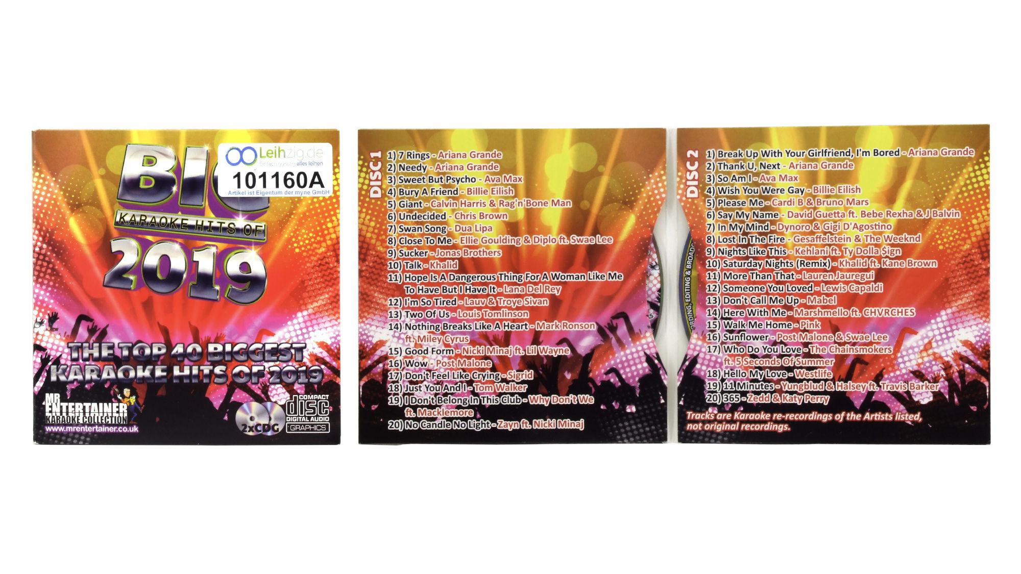 Karaoke CDs Chart Hits 2019 leihen